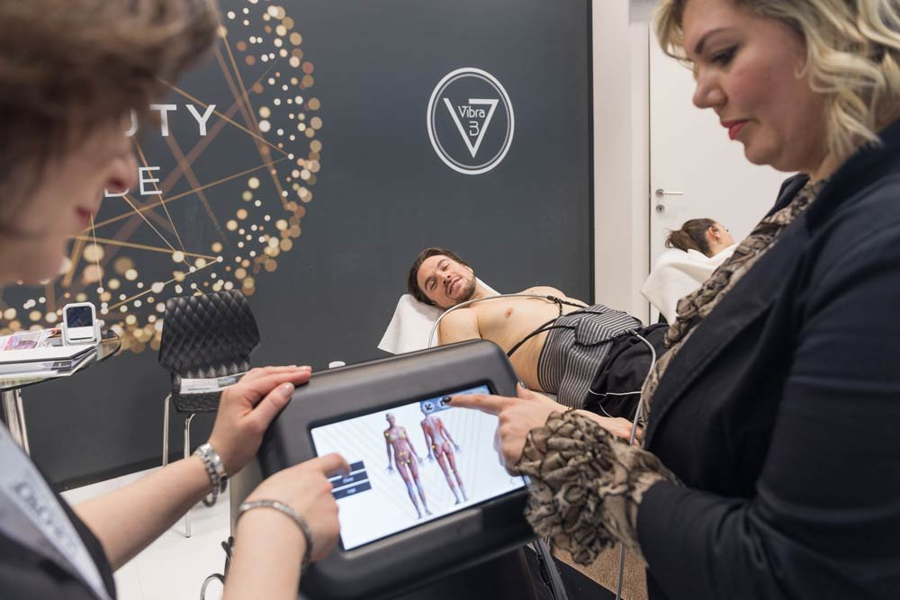 International launch of the new vibration technology line at Cosmoprof 2019